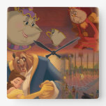 Beauty & The Beast | Beautiful Ballroom Square Wall Clock