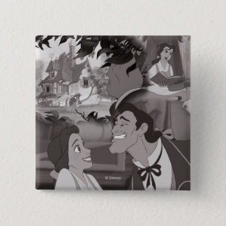 Beauty & The Beast | Belle & Gaston 2 Inch Square Button