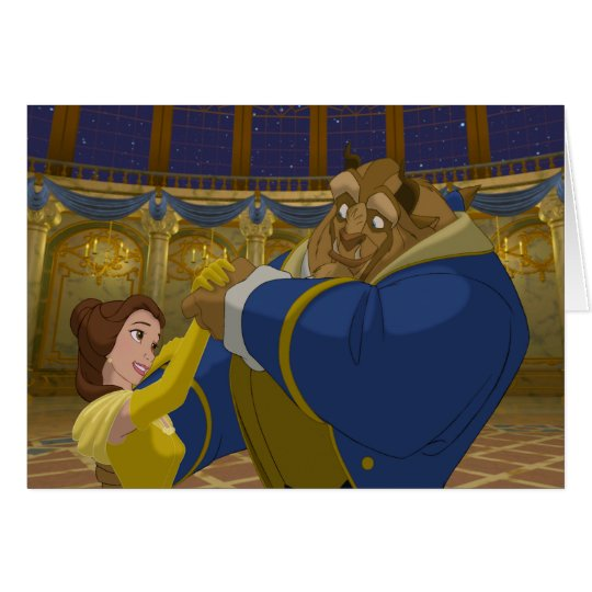 Beauty & The Beast | Belle & The Beast Dancing Card