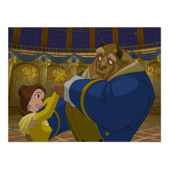 Beauty & The Beast | Belle & The Beast Dancing Poster