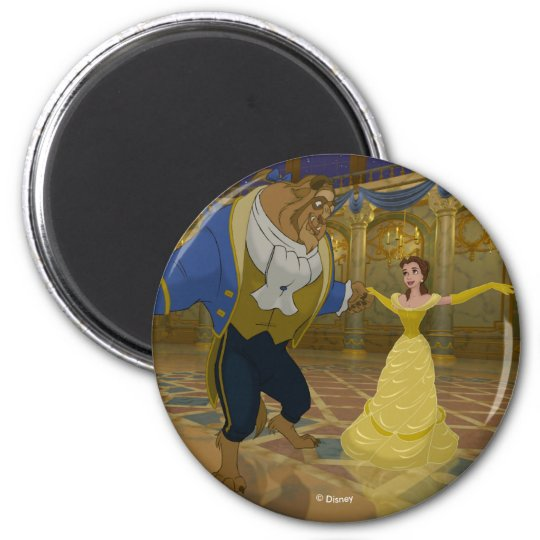 Beauty & The Beast | Dancing in the Ballroom 2 Inch Round Magnet