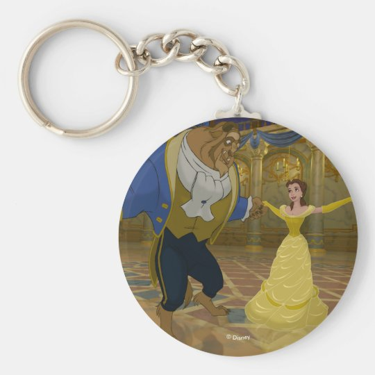 Beauty & The Beast | Dancing in the Ballroom Basic Round Button Keychain