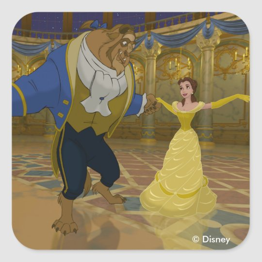 Beauty & The Beast | Dancing in the Ballroom Square Sticker