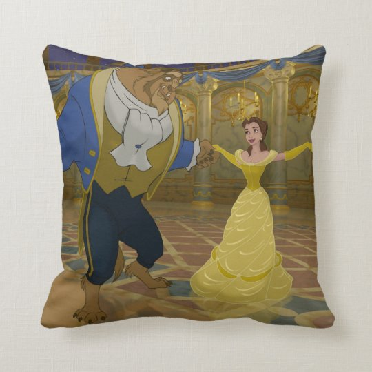 Beauty & The Beast | Dancing in the Ballroom Throw Pillow