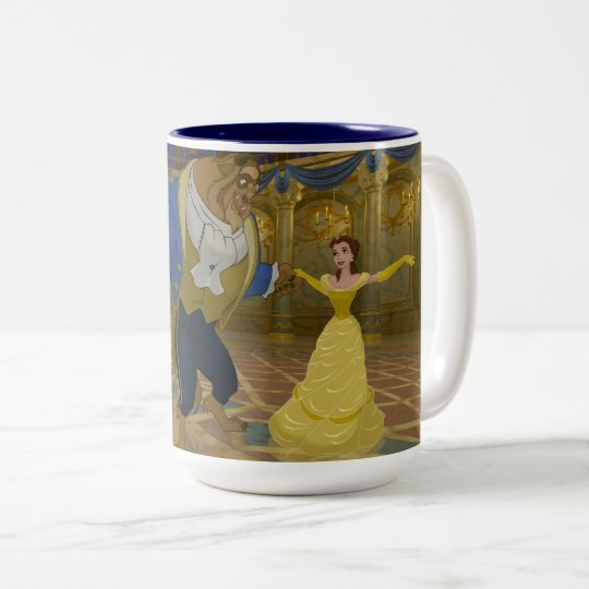 Beauty & The Beast | Dancing in the Ballroom Two-Tone Coffee Mug