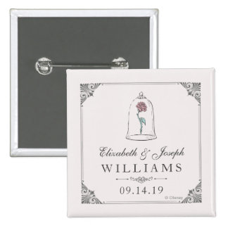 Beauty & the Beast | Enchanted Rose Wedding 2 Inch Square Button