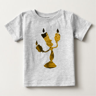 Beauty & The Beast | Lumière Silouette Baby T-Shirt
