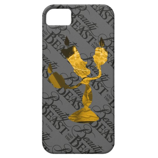 Beauty & The Beast | Lumière Silouette iPhone 5 Cover
