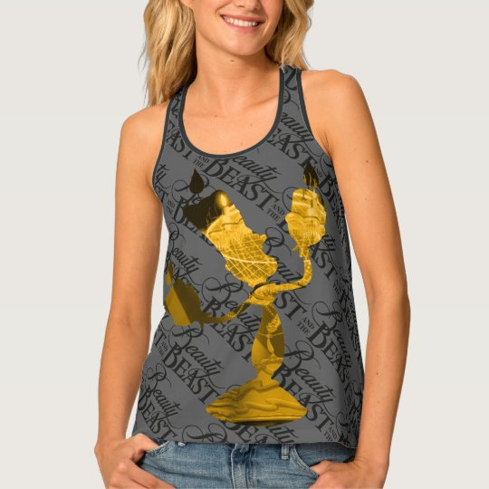 Beauty & The Beast | Lumière Silouette Tank Top