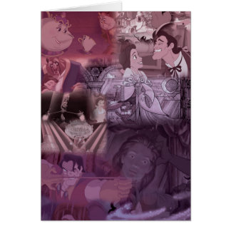 Beauty & The Beast | Pink & Purple Collage Card