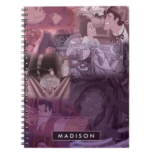 Beauty & The Beast | Pink & Purple Collage Notebooks