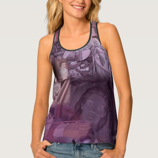 Beauty & The Beast | Pink & Purple Collage Tank Top
