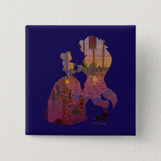 Beauty & The Beast | Silouette Dancing 2 Inch Square Button