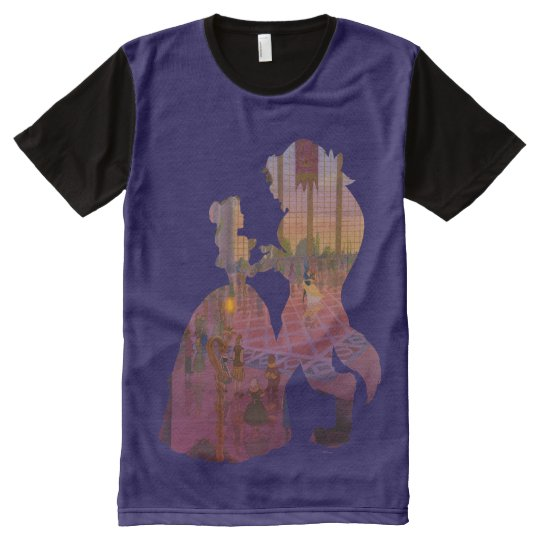 Beauty & The Beast | Silouette Dancing All-Over-Print T-Shirt