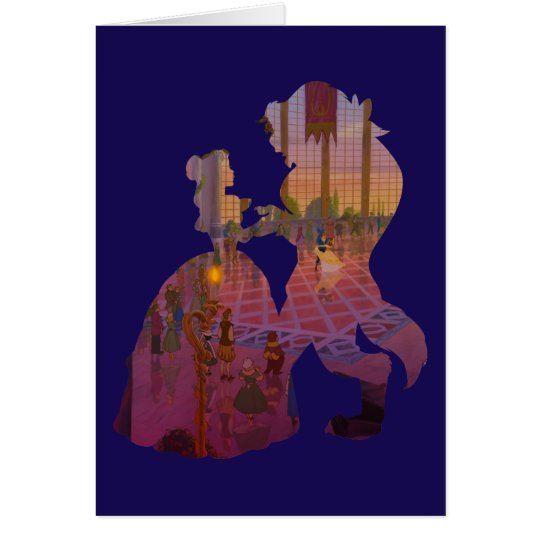 Beauty & The Beast | Silouette Dancing Card