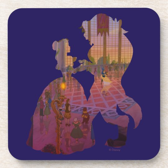 Beauty & The Beast   Silouette Dancing Drink Coasters
