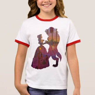 Beauty & The Beast | Silouette Dancing Ringer T-Shirt