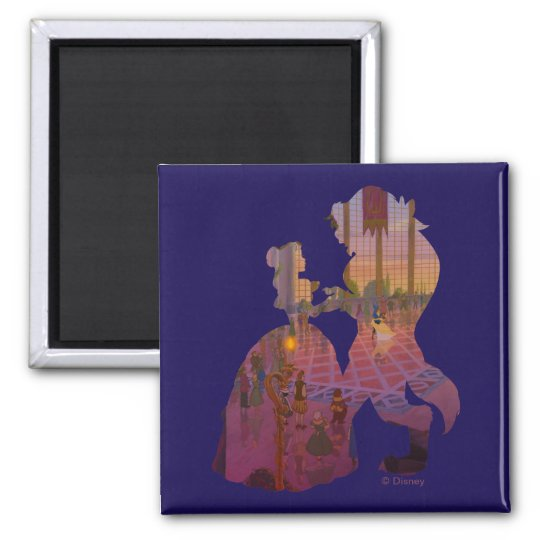 Beauty & The Beast | Silouette Dancing Square Magnet