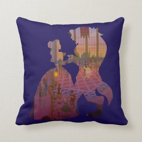 Beauty & The Beast | Silouette Dancing Throw Pillow