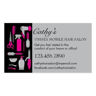 Beauty Tools Mobile Hair Salon Business Card
