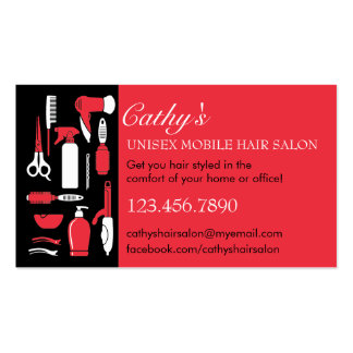 Beauty Tools Mobile Hair Salon Business Card
