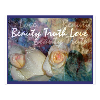 Beauty, Truth, Love Postcard