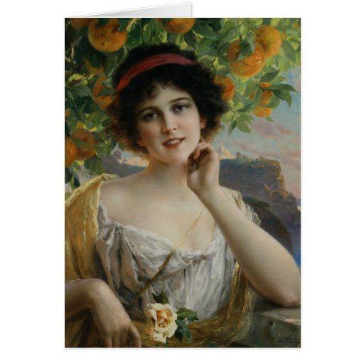 Beauty Under the Orange Tree Greeting Card