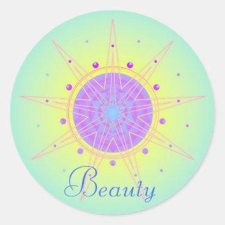 Beauty (Virtue sticker) Round Sticker