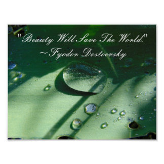 Beauty Will Save The World Quote Poster