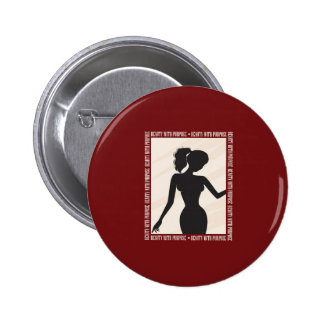 Beauty with Purpose Silhouette 2 Inch Round Button