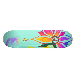 Beauty within peace- skatebord skate board deck