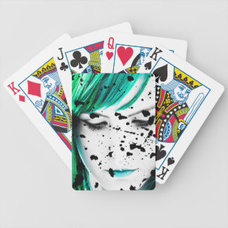 Beauty Woman Close Up Artistic Portrait Bicycle Playing Cards