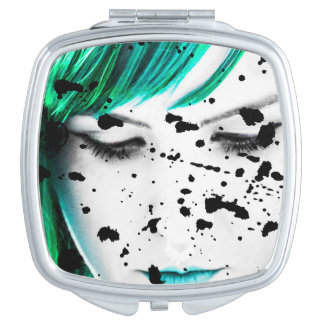Beauty Woman Close Up Artistic Portrait Compact Mirror