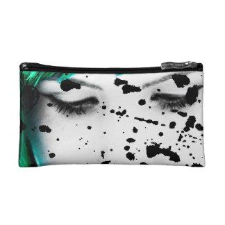 Beauty Woman Close Up Artistic Portrait Cosmetic Bag
