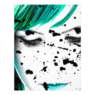 Beauty Woman Close Up Artistic Portrait Letterhead