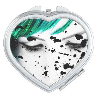 Beauty Woman Close Up Artistic Portrait Makeup Mirror