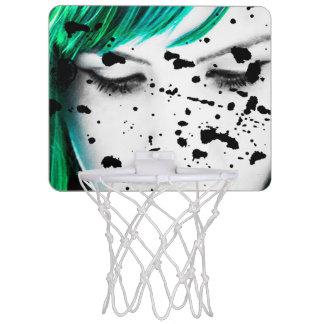 Beauty Woman Close Up Artistic Portrait Mini Basketball Hoop