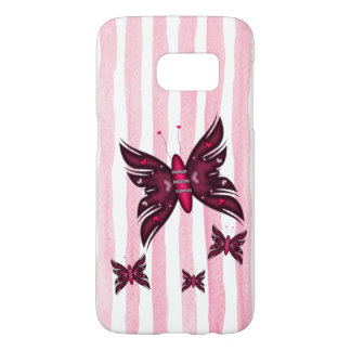 Beautyful red Butterflies Samsung Galaxy S7 Case