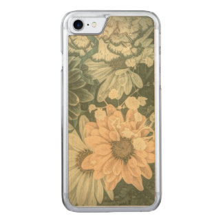 Beauutiful elegant soft green floral design carved iPhone 7 case