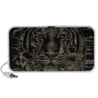 Beaux-arts 3 de tigre - haut-parleurs de griffonna