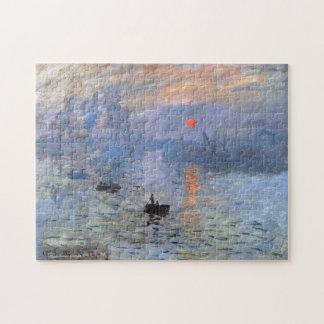 Beaux-arts de lever de soleil d'impression de puzzle