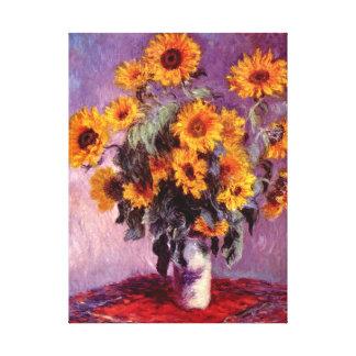 Beaux-arts de Monet de tournesols Toiles Tendues Sur Châssis