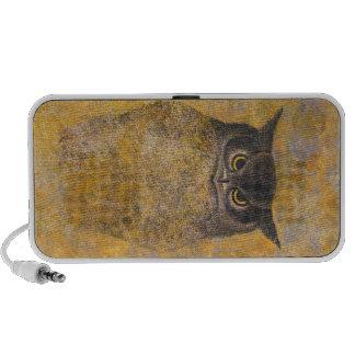 Beaux-arts orientaux japonais de hibou de Katsuda  Haut-parleur Mobile