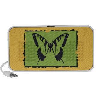 Beaux-arts vintages 2 de papillon haut-parleurs mobiles