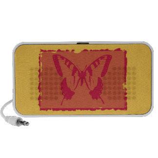 Beaux-arts vintages de papillon mini haut-parleurs