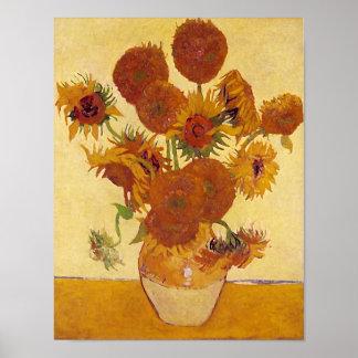 Beaux-arts vintages des tournesols de Van Gogh F4 Posters