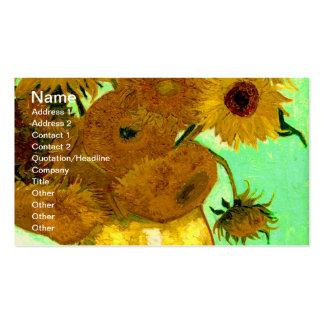 Beaux-arts vintages des tournesols de Van Gogh (F4 Modèle De Carte De Visite