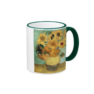 Beaux-arts vintages des tournesols de Van Gogh (F4 Tasse