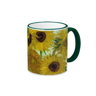 Beaux-arts vintages des tournesols de Van Gogh (F4 Mug