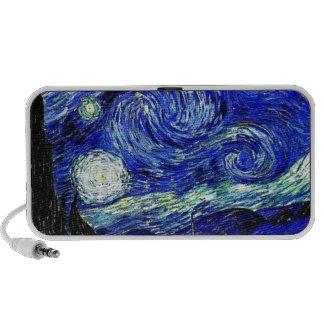 beaux-arts vVan de nuit étoilée de Gogh Haut-parleur Portable